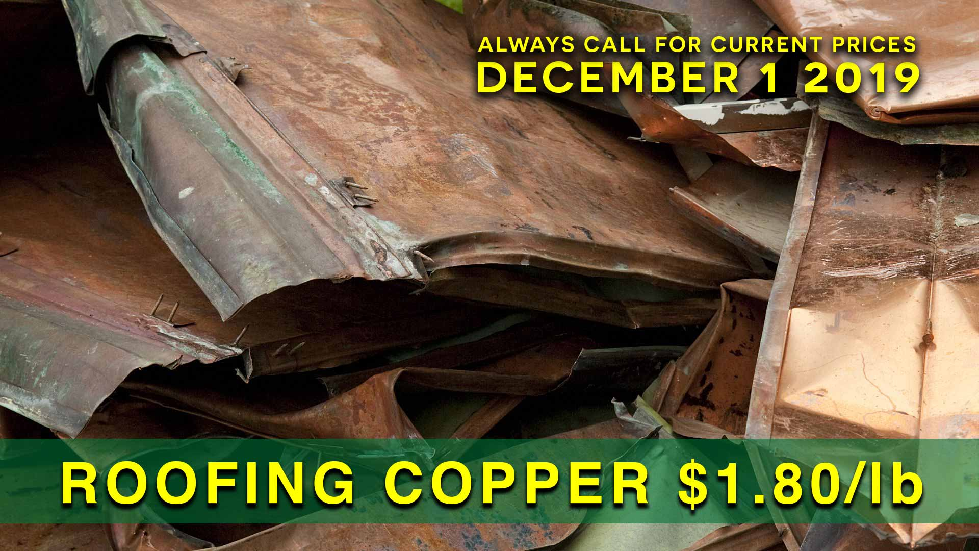 Roofing Copper $1.80 lb.